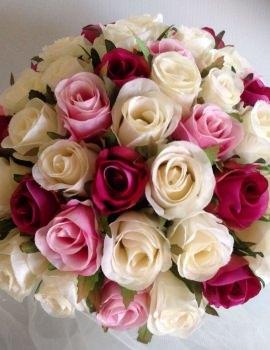 Ivory, Fuchsia & Pink 60
