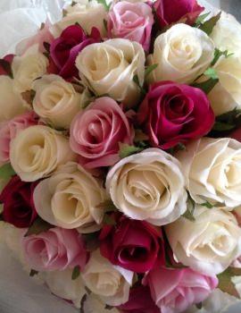 Ivory, Fuchsia & Pink 60.